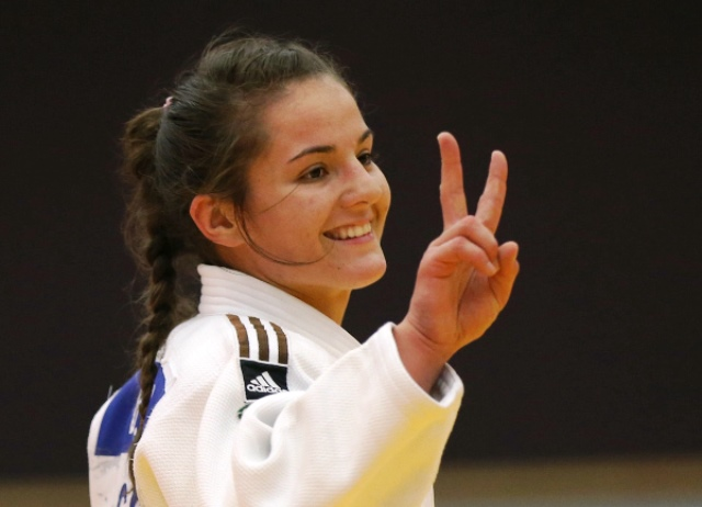 Double delight for Barbara Matic of Croatia as she retained her junior world title at under 70kg ©IJF