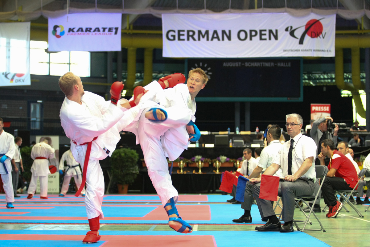 France topped the medal table in Hanau with three gold at the Karate Premier League event ©WKF