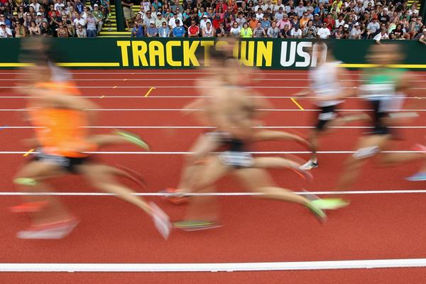 Hayward Field, which markets itself as TrackTown USA, is one of three bidders to host the IAAF 2019 World Championships ©Getty Images