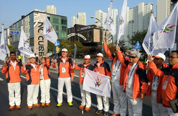 Athletes and officials prepare for the Opening Ceremony of the Incheon 2014 Asian Para Games ©Incheon 2014