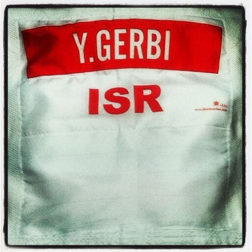 Israeli judoka Yarden Gerbi is auctioning the red backpatch she wore when she claimed Israel's first ever judo world title in Rio last year ©Ebay