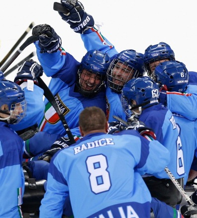 Italy have secured victory in the inaugural Ice Sledge Hockey World Series event in Germany ©Getty Images