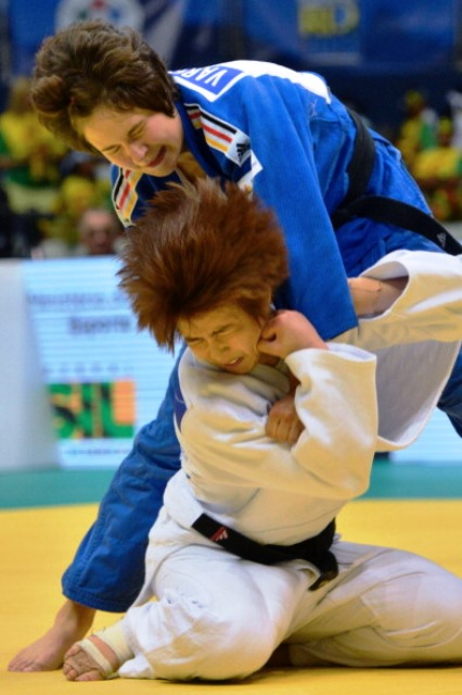Laura Vargas Koch is part of a strong German contingent in the women's competition at the International Judo Federation Grand Prix in Tashkent ©AFP/Getty Images