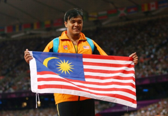 London 2012 bronze medallist Muhammad Ziyad Zolkefli Malaysia secured the men's F20 shot put gold in Incheon ©Getty Images