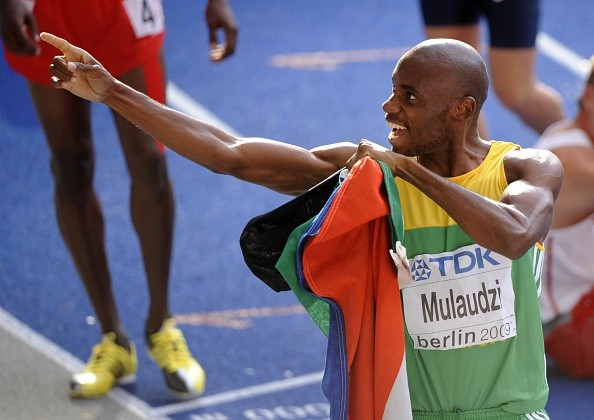 Mbulaeni Mulaudzi's glittering career included 800m success at the 2009 IAAF World Championships ©Getty Images