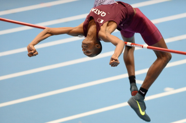 Qatar's Mutaz Essa Barshim is one of three men to make the shortlist for the IAAF World Athlete of the Year ©AFP/Getty Images