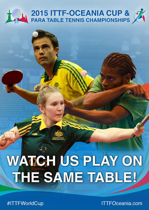 The 2015  ITTF-Oceania Cup and Para-table Tennis Championships will be the first event to integrate able-bodied table tennis with Para-table tennis in the history of the ITTF ©OTTF