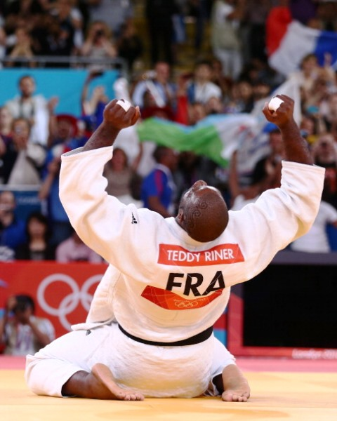 Olympic judo champion Teddy Riner could be one of around 260 French athletes competing at Baku 2015 ©Getty Images