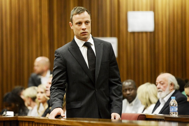 Oscar Pistorius has been handed a five-year jail term for killing his girlfriend Reeva Steenkamp ©Getty Images