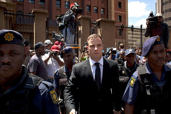 Oscar Pistorius leaves the North Gauteng High Court today ©Getty Images