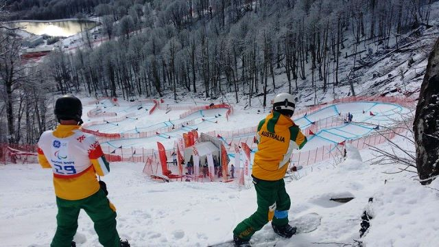 Para-snowboarder Joany Broadenhorst and Australian Chef de Mission at Sochi 2014 Chris Nunn will take part in an online workshop with Australian students later this month ©Facebook/Joany Broadenhorst