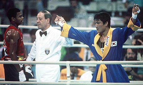 South Korean Park Si-Hun was adjudged to have beaten American Roy Jones Jr at the 1988 Olympics in at Seoul, a decision considered one of the most controversial in history ©Getty Images