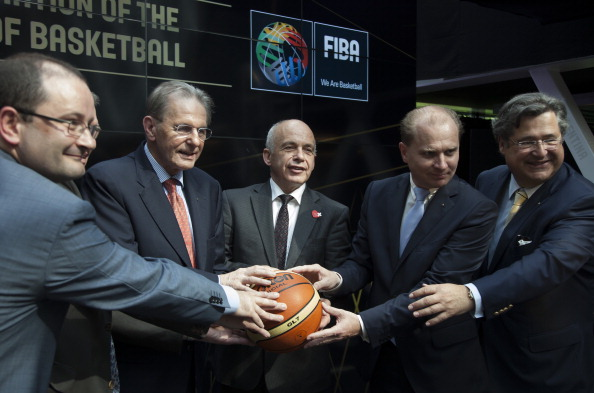 """Patrick Baumann (left), International Basketball Federation secretary general, said the scale of the anti-doping programme was """"bigger than ever before"""" ©Getty Images"""