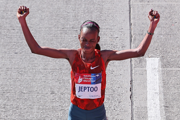 Rita Jeptoo has allegedly tested positive for a banned substance in a urin sample taken last month ©Getty Images