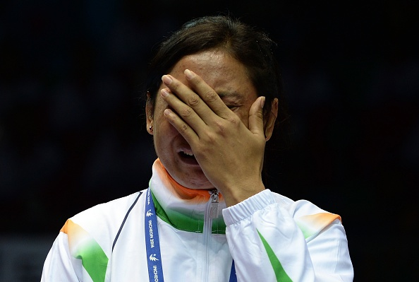 Sarita Devi has been provisonally suspended by the AIBA after refusing her medal at the Asian Games in Incheon ©Getty Images