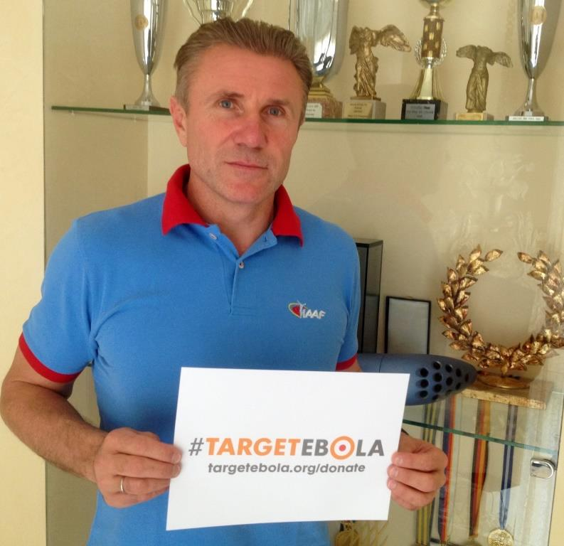 Sergey Bubka is among those supporting the #TargetEbola campaign launched by the World Olympians Association ©WOA