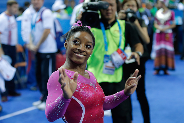 Simone Biles has secured a second successive world all-around title at the Artistic Gymnastics World Championships ©Getty Images
