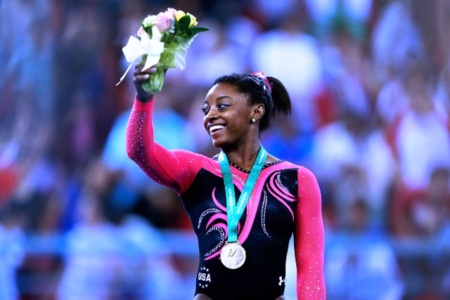 Simone Biles holds the most World Championship titles of any female American gymnast with six ©Getty Images