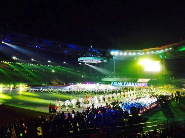 The Asian Para Games drew to a close with a spectacular Closing Ceremony at the Munhak Stadium in Incheon ©Incheon 2014