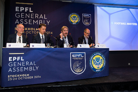 The Association of European Professional Football Leagues' General Assembly was held in Stockholm today ©EPFL