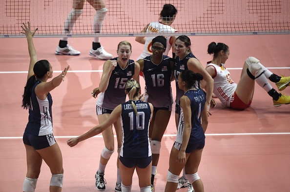 The US team on the way to a historic World Championship victory over China ©AFP/Getty Images