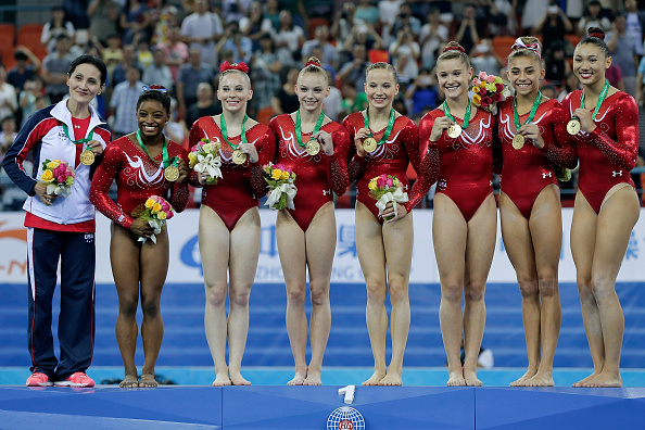 The United States have defended their team title at the Artistics Gymnastics World Championships ©Getty Images