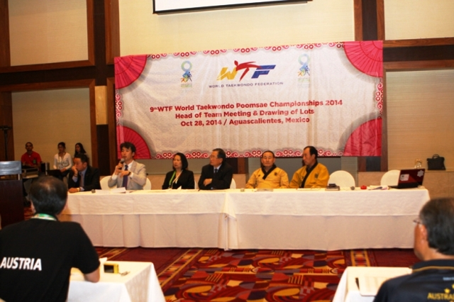 The World Taekwondo Poomsae Championships are taking place in Aguascalientes in Mexico ©WTF