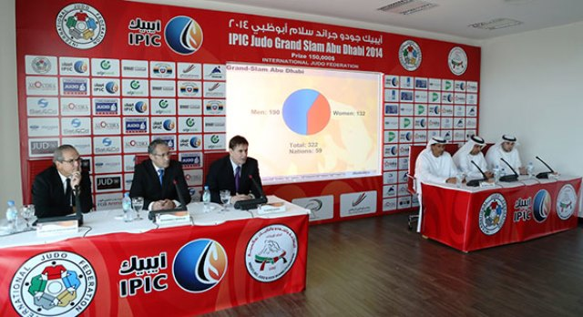 The draw for the inaugural Abu Dhabi Grand Slam took place today ahead of three days of judo action ©IJF
