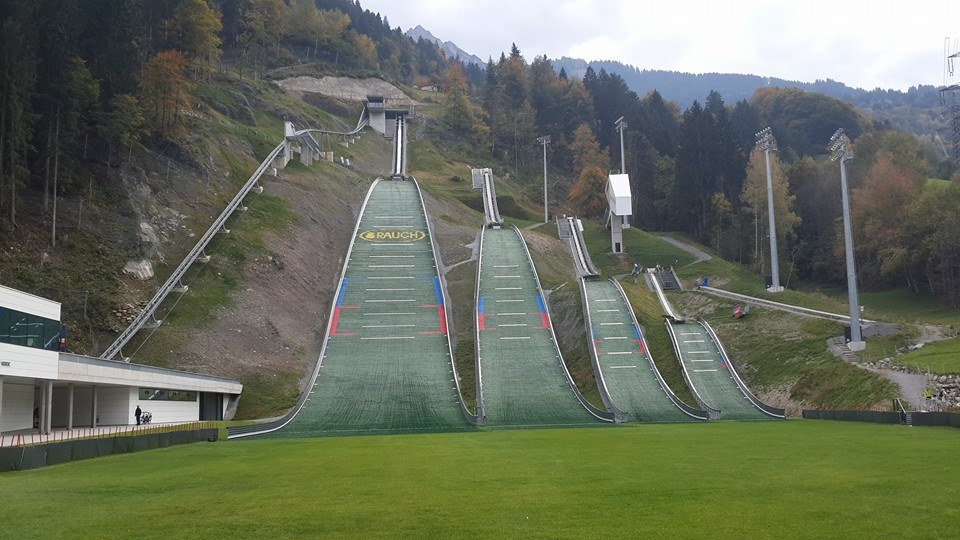 The newly-constructed Montafon Nordic will be one of the main legacies of the 2015 Winter European Youth Olympic Festival in Vorarlberg and Liechtenstein ©ITG