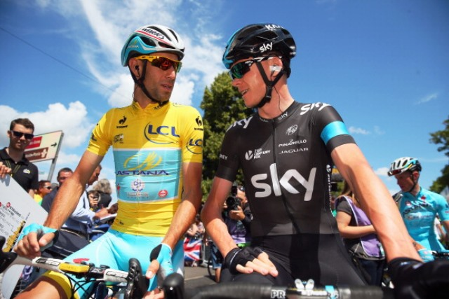 Tour de France winners Vincenzo Nibali (left) and Chris Froome have been challenged to take part in all three Grand Tours in 2015 ©Getty Images