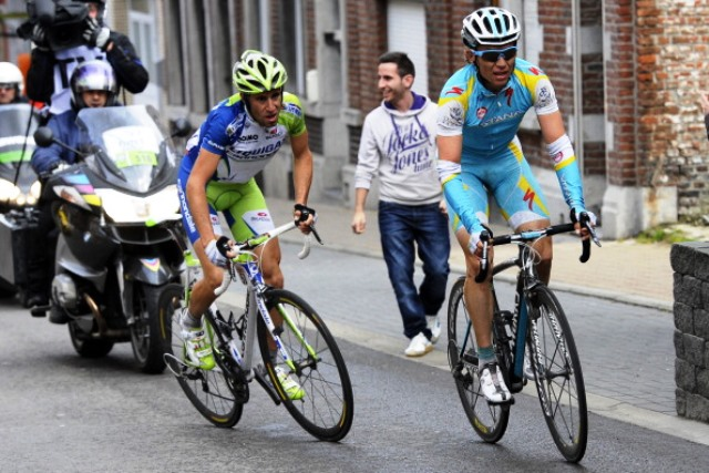 Valentin Iglinskiy (right) was fired by Astana last month after admitting to using banned substances ©AFP/Getty Images