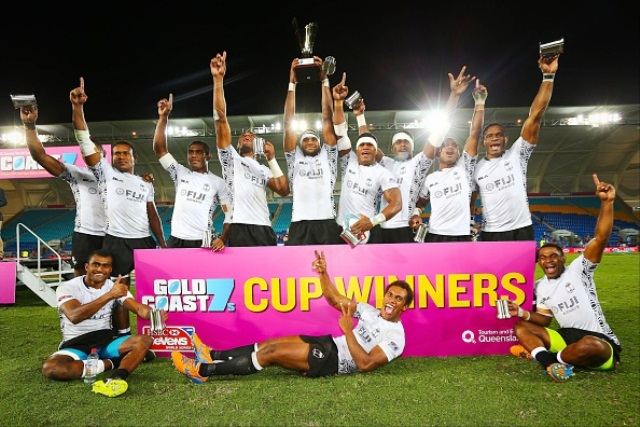Fiji kicked off the Sevens World Series with victory in the Gold Coast ©AFP/Getty Images