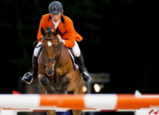Jeroen Dubbeldam led the Dutch challenge for gold at the Real Club de Polo ©AFP/Getty Images