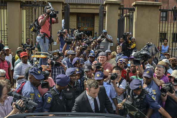 There is huge international interest in the fate of Oscar Pistorius after he was convicted last month of culpable homicide ©AFP/Getty Images