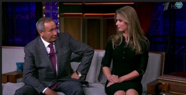 """Shamil Tarpischev made his comments questioning the sexuality of the Williams sisters on Russian television show """"Evening Urgant"""" alongside former WTA player Elena Dementieva ©Twitter"""