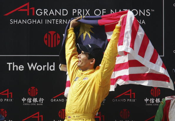 Aaliyah Yoong Hanifah's half brother is Malaysian motor racing champion and former Formula One driver, Alex Yoong ©Getty Images