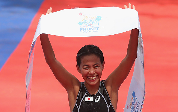 Ai Ueda swept to two titles today in triathlon to cement her Asian dominance ©Getty Images