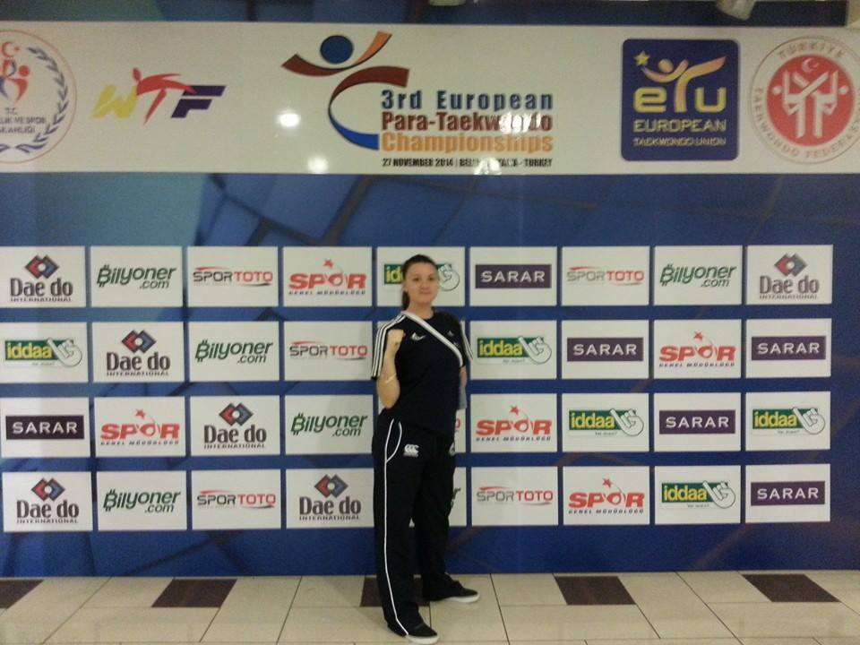 Amy Truesdale wins gold at the European Para-Taekwondo Championships in Belek ©Facebook