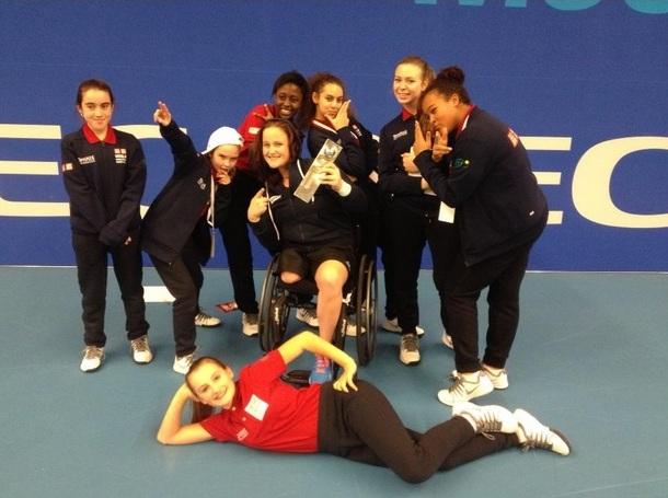 Aniek Van Koot won the women's singles title at the NEC Wheelchair Tennis Masters ©Twitter