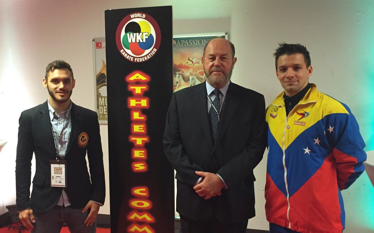 Antonio Diaz and Douglas Brose have been elected onto the WKF Athletes' Commission ©WKF