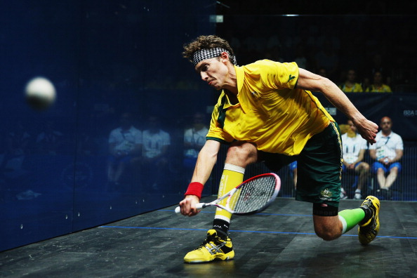 Australia's Cameron Pilley advanced to the third round of the 2014 Qatar Professional Squash Association World Championship ©Getty Images