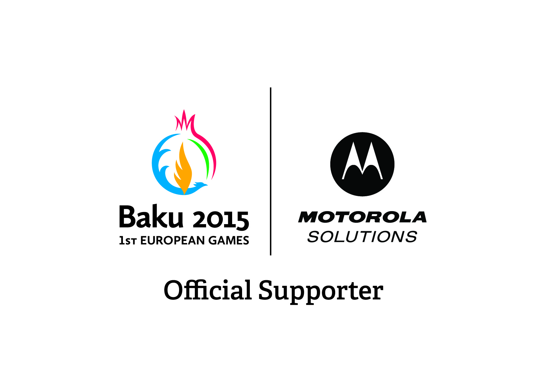 Motorola Solutions has been named the official radio communications supporter of Baku 2015 ©Baku 2015