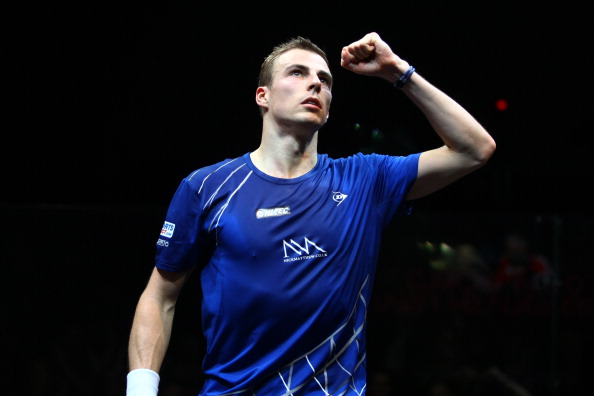 Nick Matthew booked his place in the second round of the 2014 Qatar Professional Squash Association World Championship ©Getty Images