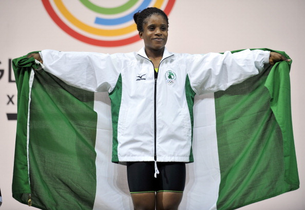 Chika Amalaha was stripped of weightlifting gold after testing positive at Glasgow 2014 ©AFP/Getty Images