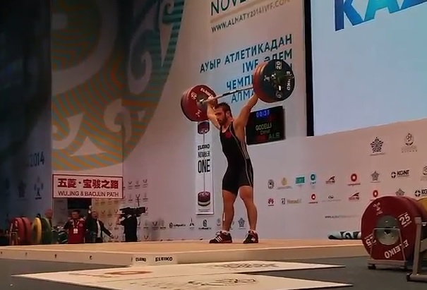 Daniel Godelli has won the first European gold medal of the 2014 Weightlifting World Championships ©IWF/Instagram