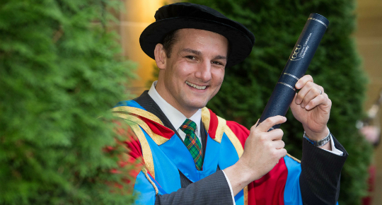 David Grevemberg has been awarded an Honorary Degree of Doctor of the University at Glasgow Caledonian ©GCU