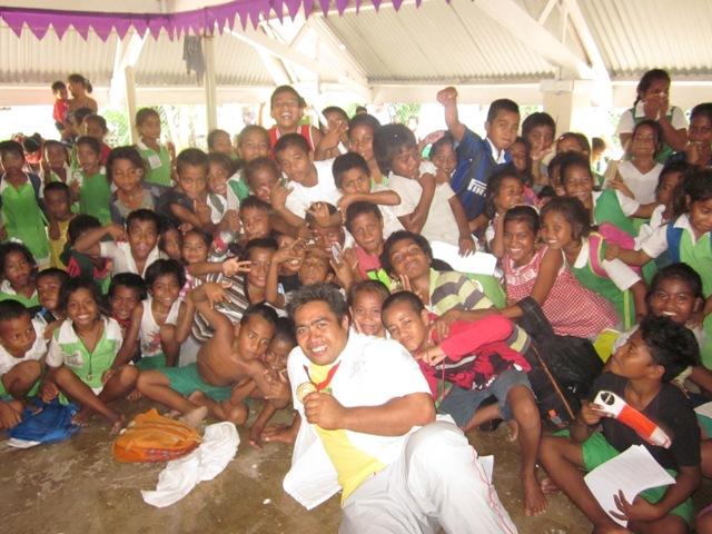 David Katoatu's Glasgow 2014 gold medal has sparked a weightlifting boom in Kiribati ©Brian Oliver