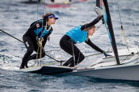 Female World Sailors of the Year Martine Grael and Kahena Kunze will be the ones to watch in the 49erFX ©ISAF/Jesus Renedo/Sofia