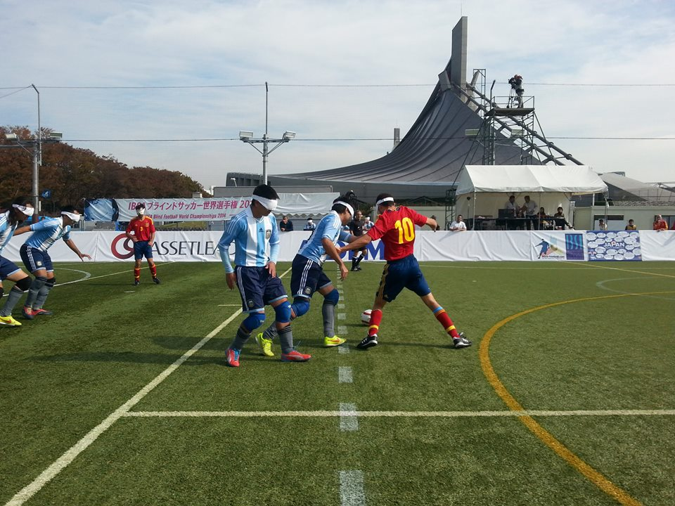 Fraulán Padillo's goal was all that separated Argentina and opponents Spain ©IBSA