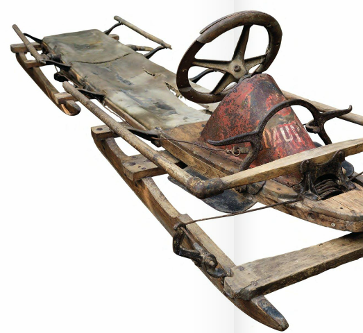 A bobsleigh used by the French team at the first-ever Winter Olympics in Chamonix in 1924 is among the items due to be auctioned in London ©Graham Budd Auctions